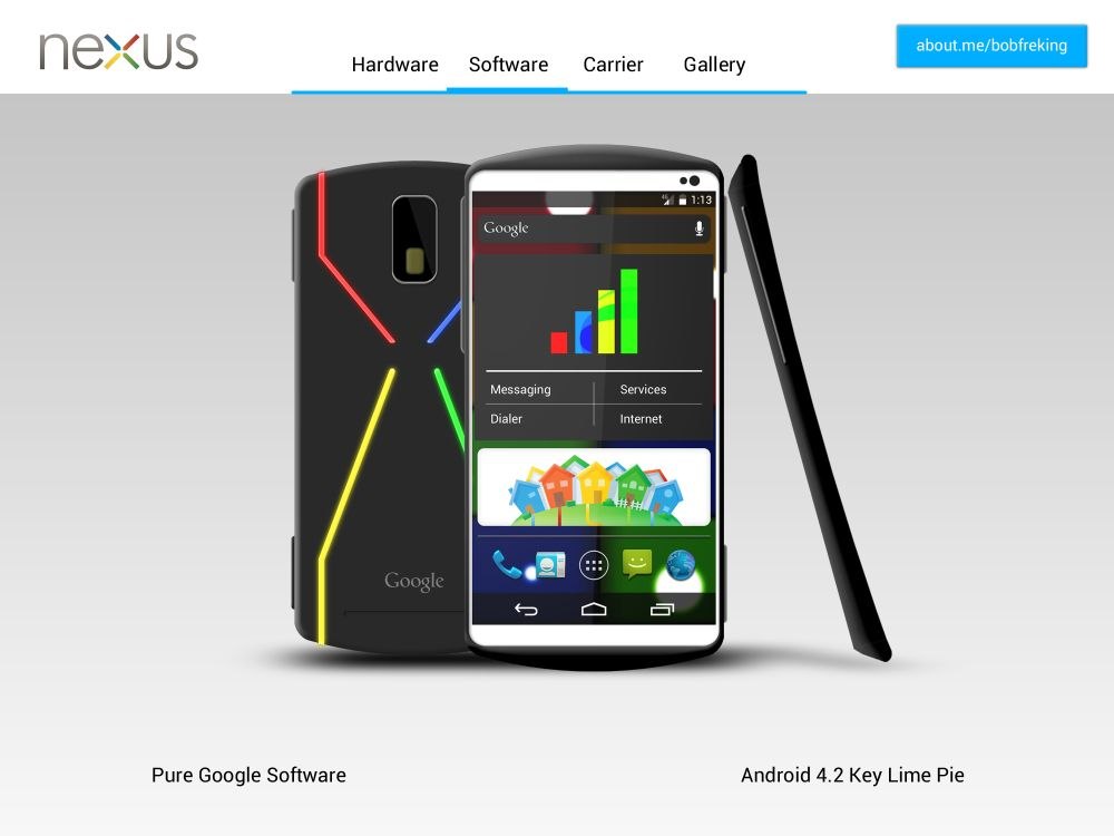 Google Nexus 2013 Concept Phone: Tegra 4, Android 4.2, Google Wireless