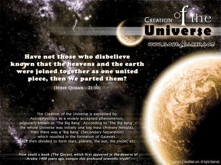 creation of the universe scientific and This agrees with creation but disagrees with evolution, which says the universe is building up, improving, and becoming more complex and orderly this is just a sample of the scientific evidence that can be presented for creation.
