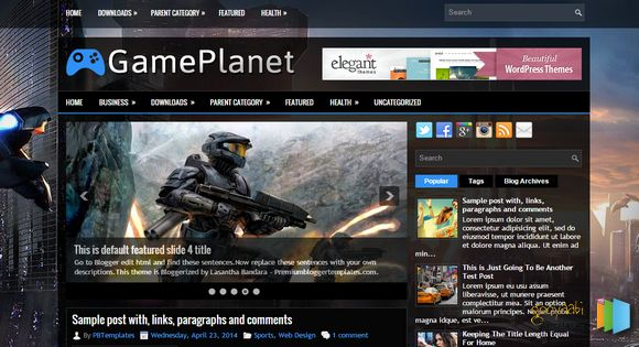 Template GamePlanet Responsive 2015