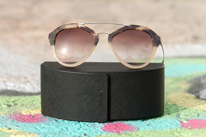 Gafas de sol tendencia estilo aviador de pasta y metal con personalidad novedad de Prada nueva coleccion