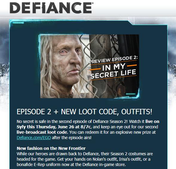 Defiance Dizi – Oyun İlişkisi Artıyor