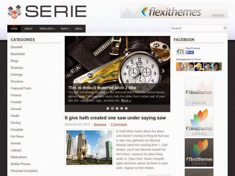 Serie - Free Wordpress Theme