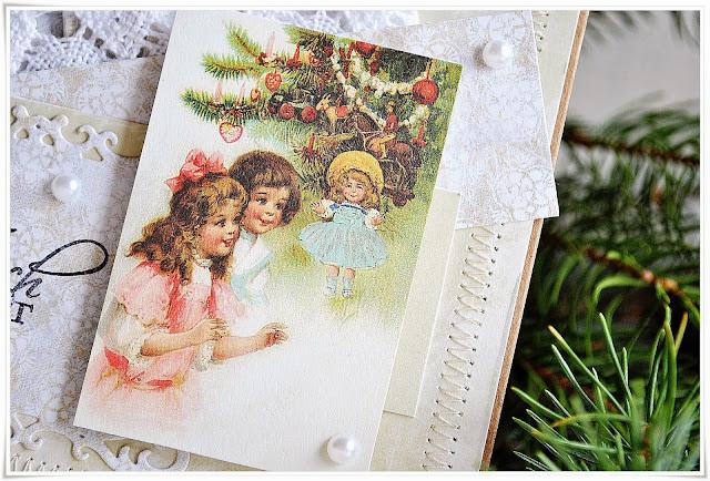 wesołych świąt, boże narodzenie scrapbooking kartka