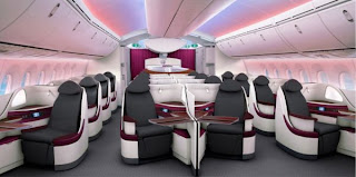 Qatar Airways Business Class Cabin 787