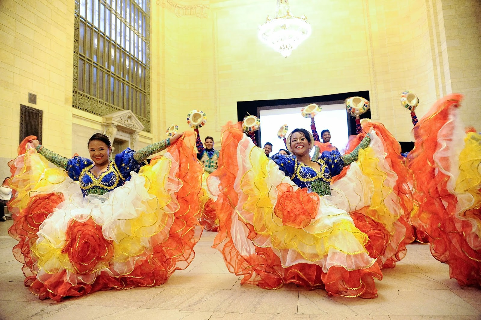 Boa Vista June Festival, Brazil, Dancers, Entertainment, Grand Central Terminal, New York, Offbeat, Quadrille Dance, Quadrille Dancers, Showbiz, USA,