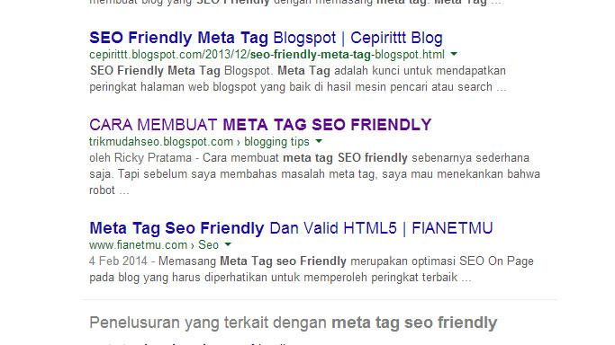 Meta Tag Keyword