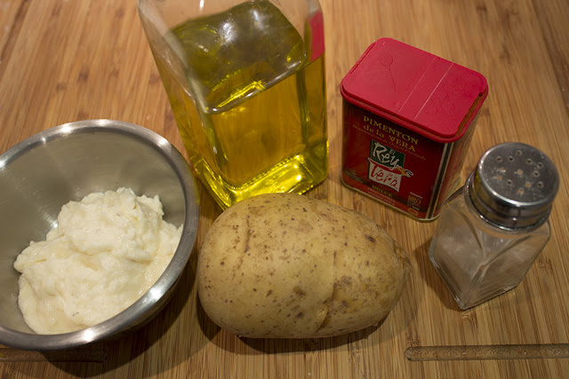 Ingredientes milhojas de patata y brandada de bacalao
