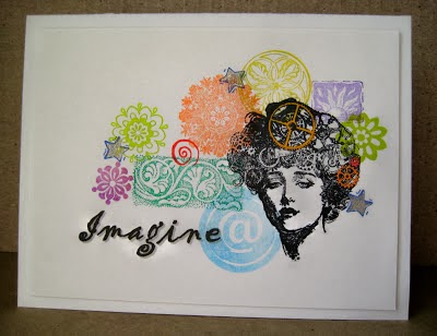 stamped collage