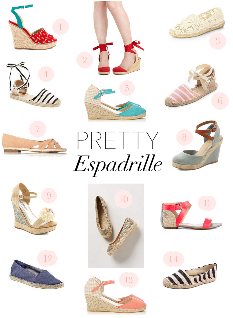 Pretty espadrilles for spring and summer. I'll take them all, please.