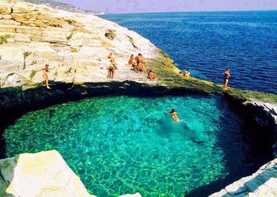 Laguna Giola (Thassos, Grecia).