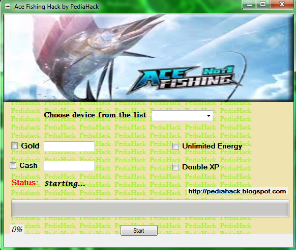 Pediahack ace fishing hack by pediahack for Ace fishing cheats