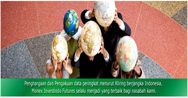 Monex merupakan broker forex lokal resmi Indonesia yang teregulasi oleh Badan Pengawas Perdagangan Berjangka Komoditi (BAPPEBTI). Monex Investindo Futures juga merupakan anggota dari Bursa Berjangka Jakarta (BBJ), Bursa Komoditi dan Derivatif Indonesia (BKDI), Kliring Berjangka Indonesia (KBI), dan ISI Clearing.