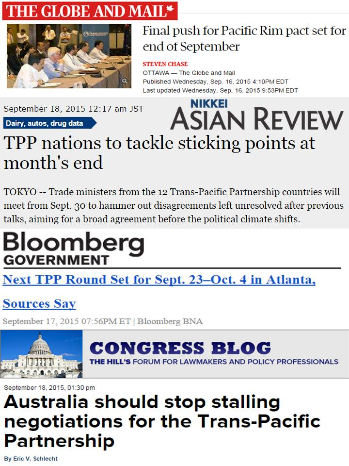 Government And Taxes Free Trade 53 Tpp Final Push This September