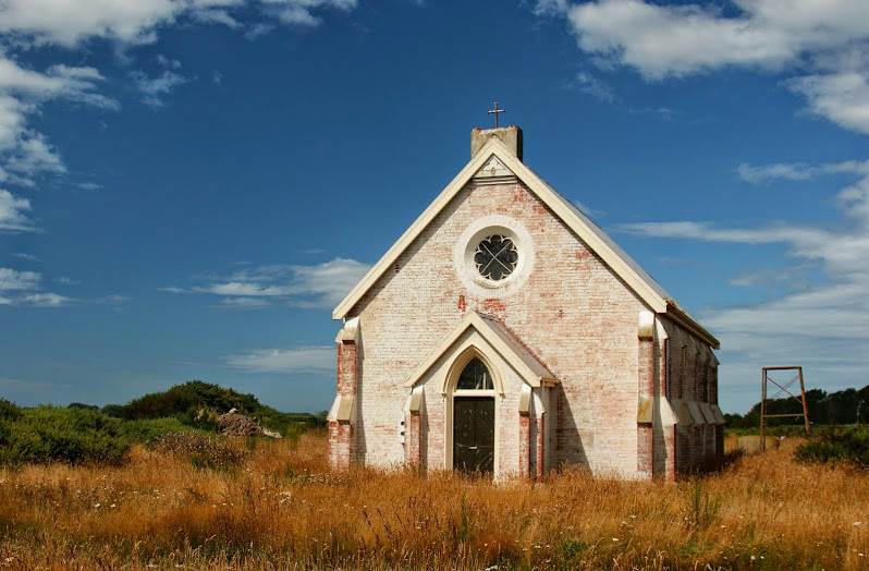 The abandoned St Joseph's Church near Morven