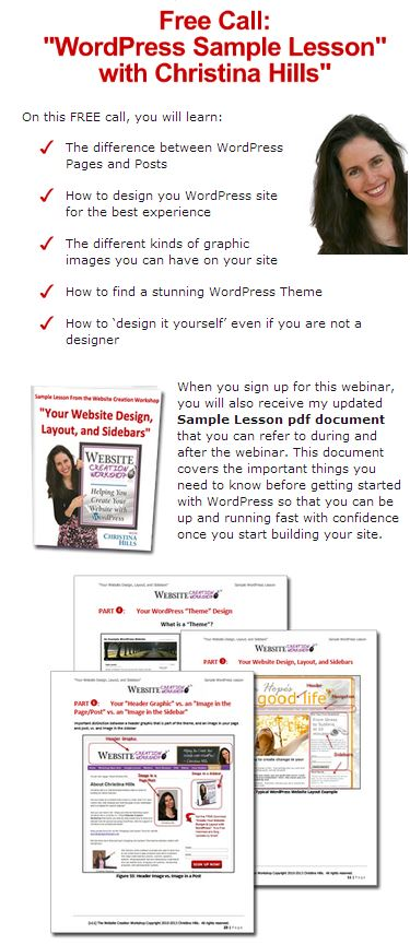 Free Wordpress Training: The Non-Techie Guide to creating a beautiful website without a webmaster