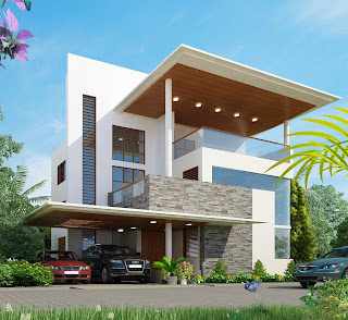 Mind Blowing Designs of Houses - Kerala home design and floor plans