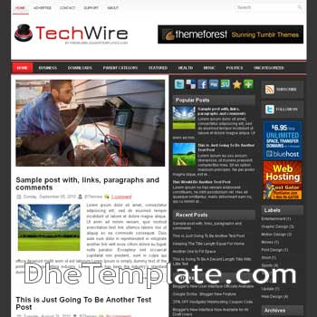TechWire blog template. magazine blogger template style. magazine style template blogspot. 3 column blogspot template
