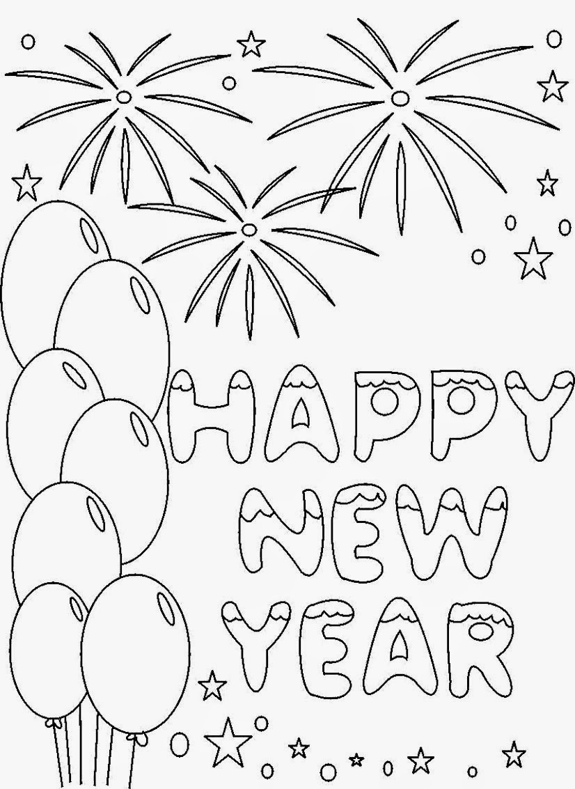 the holiday site happy new year u0027s coloring pages