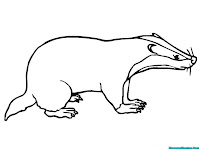 Badger Outline Printable Kids Coloring Pages