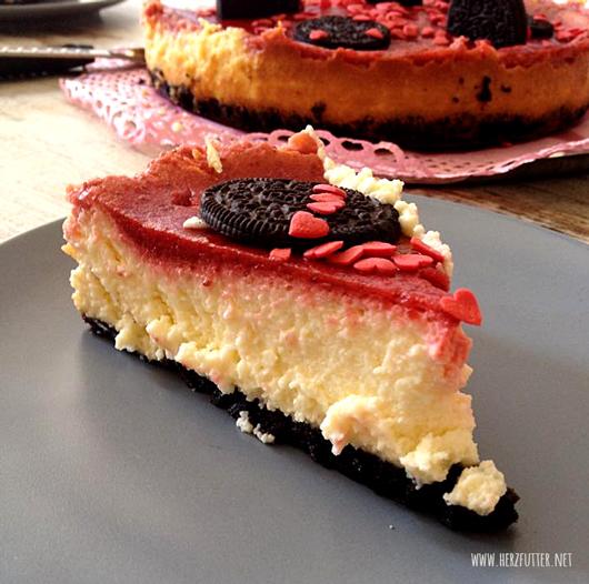 Herzfutter Food Blog American Birthday Oreo Strawberry Cheesecake