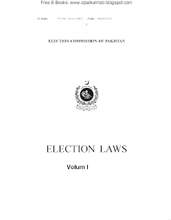 Pakistan Election Laws 2013
