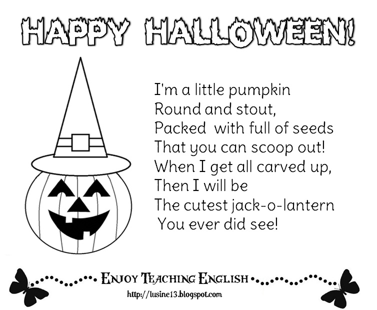 Gallery For gt Cute Halloween Poems