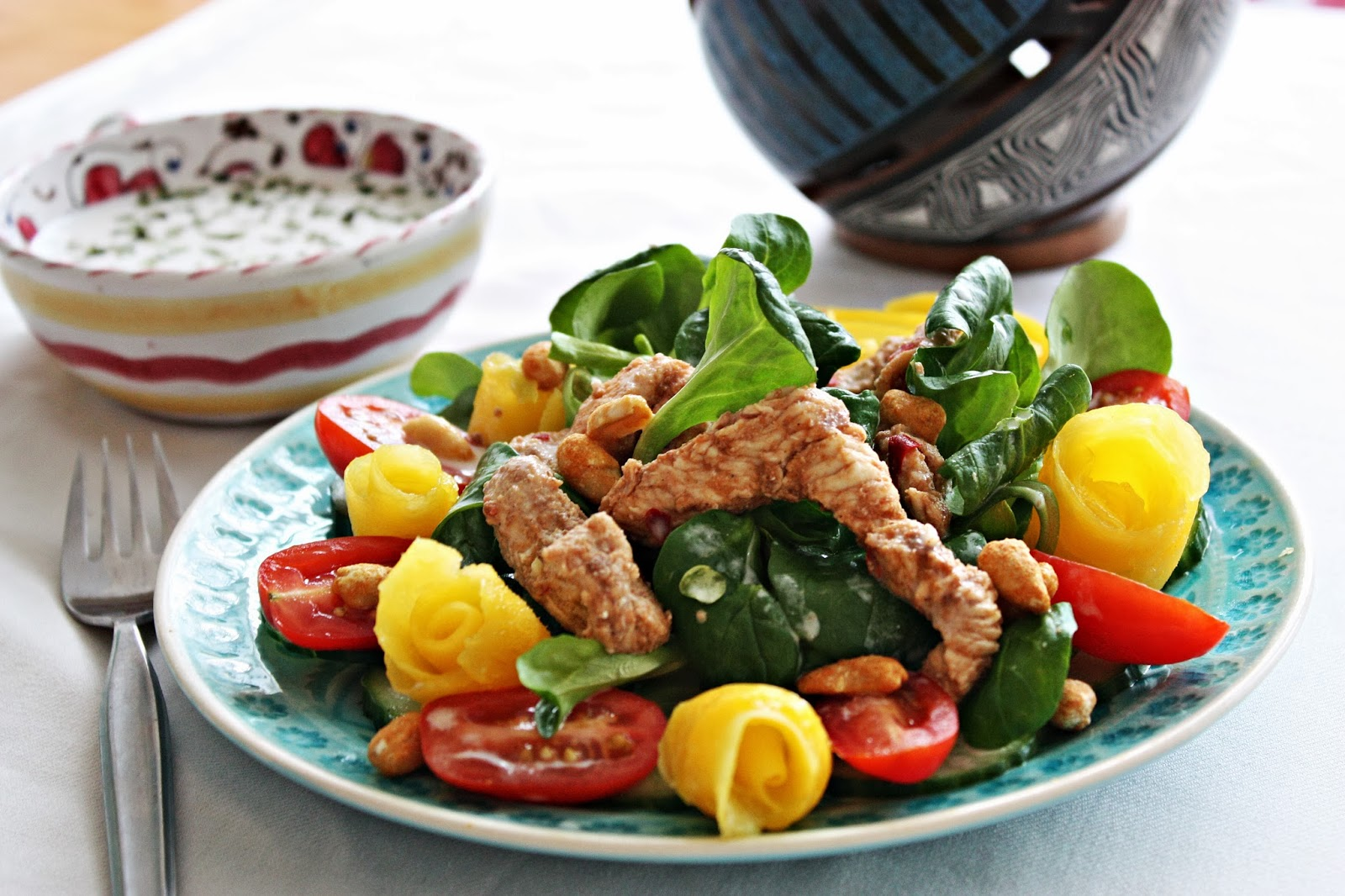 Chicken Salad Mango & Coconut Dressing