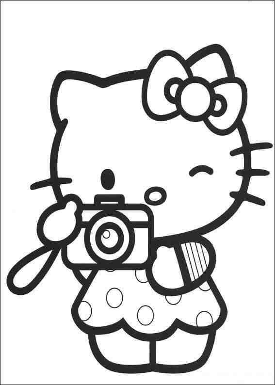 Planse De Colorat  Hello Kitty