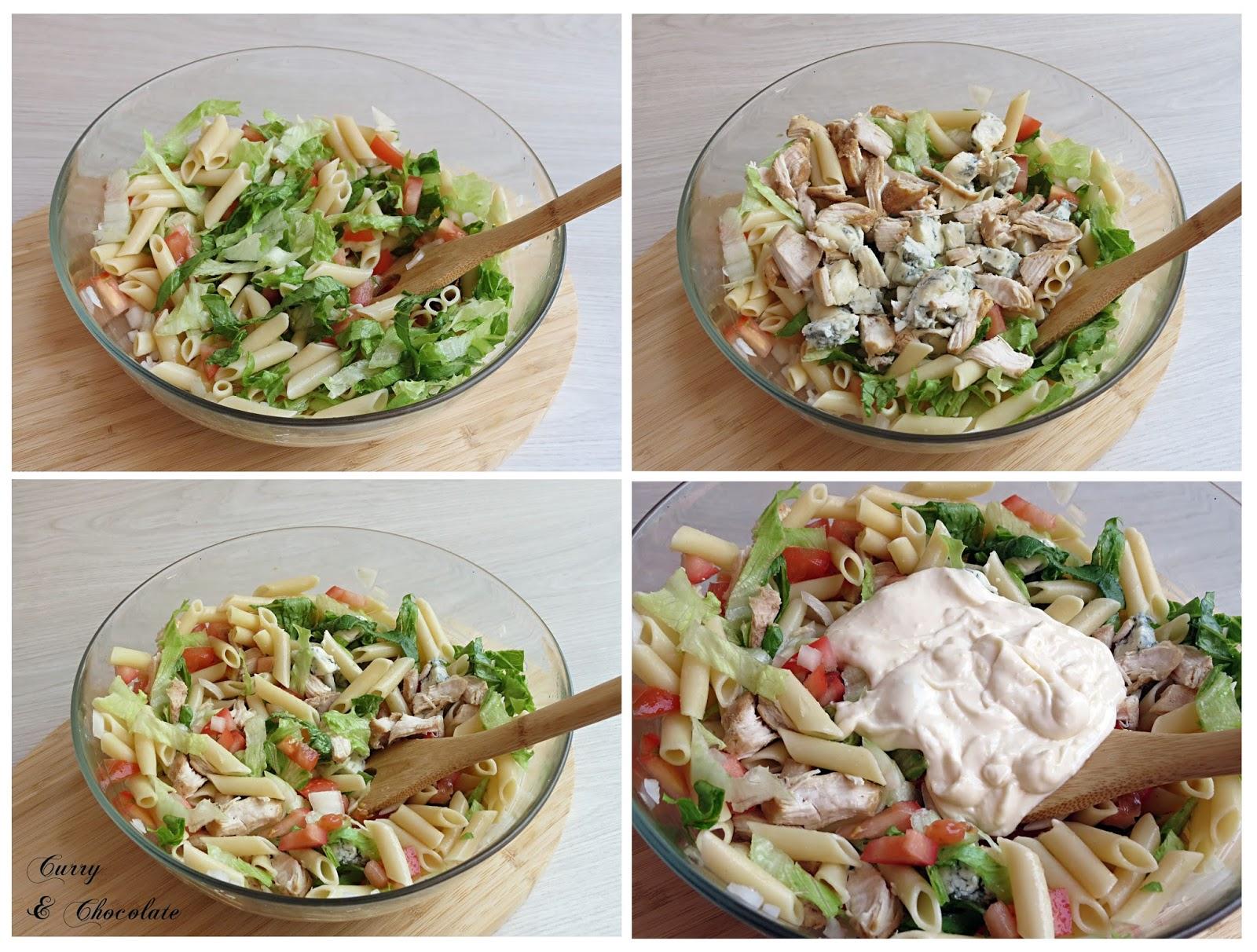 Montando la ensalada