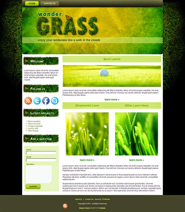 Wonder Grass - Free Drupal Theme