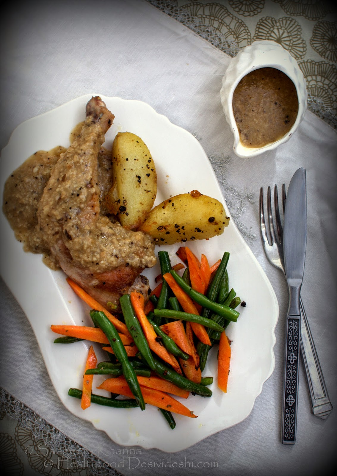 pan grilled chicken with mushroom brown sauce | recipe of mushroom based brown sauce
