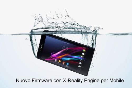 Nuovo aggiornamento firmware che introduce L'X-Reality Engine per mobile sul Sony Xperia Z Ultra
