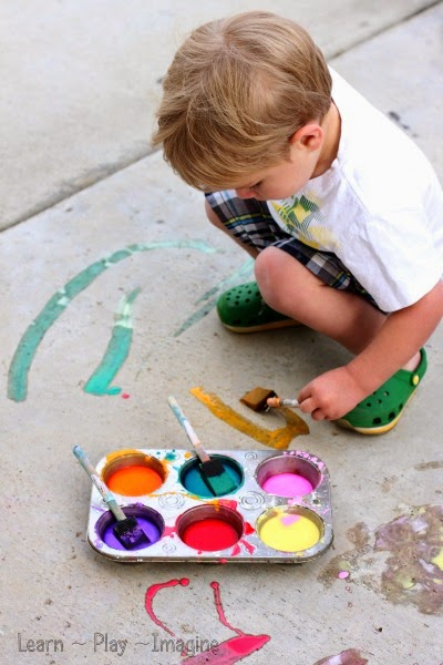 two ingredient sidewalk chalk paint recipe