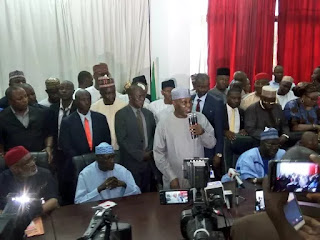 Atiku Abubakar arrives PDP headquarters (photo)
