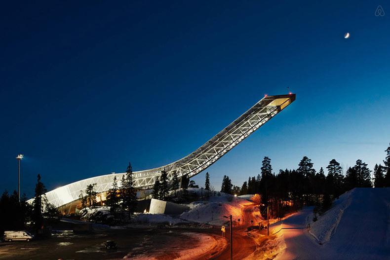 Un apartamento en la parte superior de un histórico salto de esquí