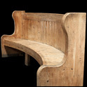 Monumental chateau curved bench via Obsolete, as seen on linenandlavender.net