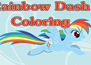 Rainbow Dash Coloring juego