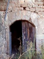 Porta d'entrada al mas de Sant Pere de les Cigales