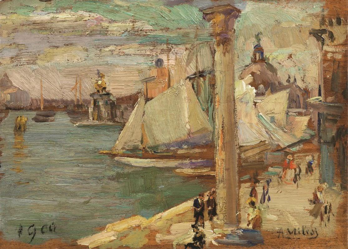 Alessandro Milesi La  punta  della  Dogana  da  San  Marco