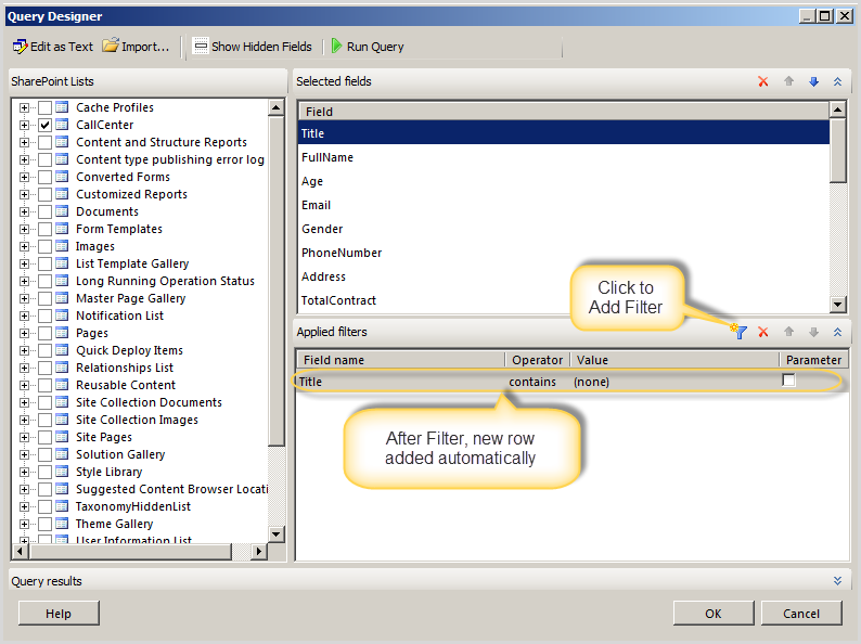 how to create crystal report using sql query in c