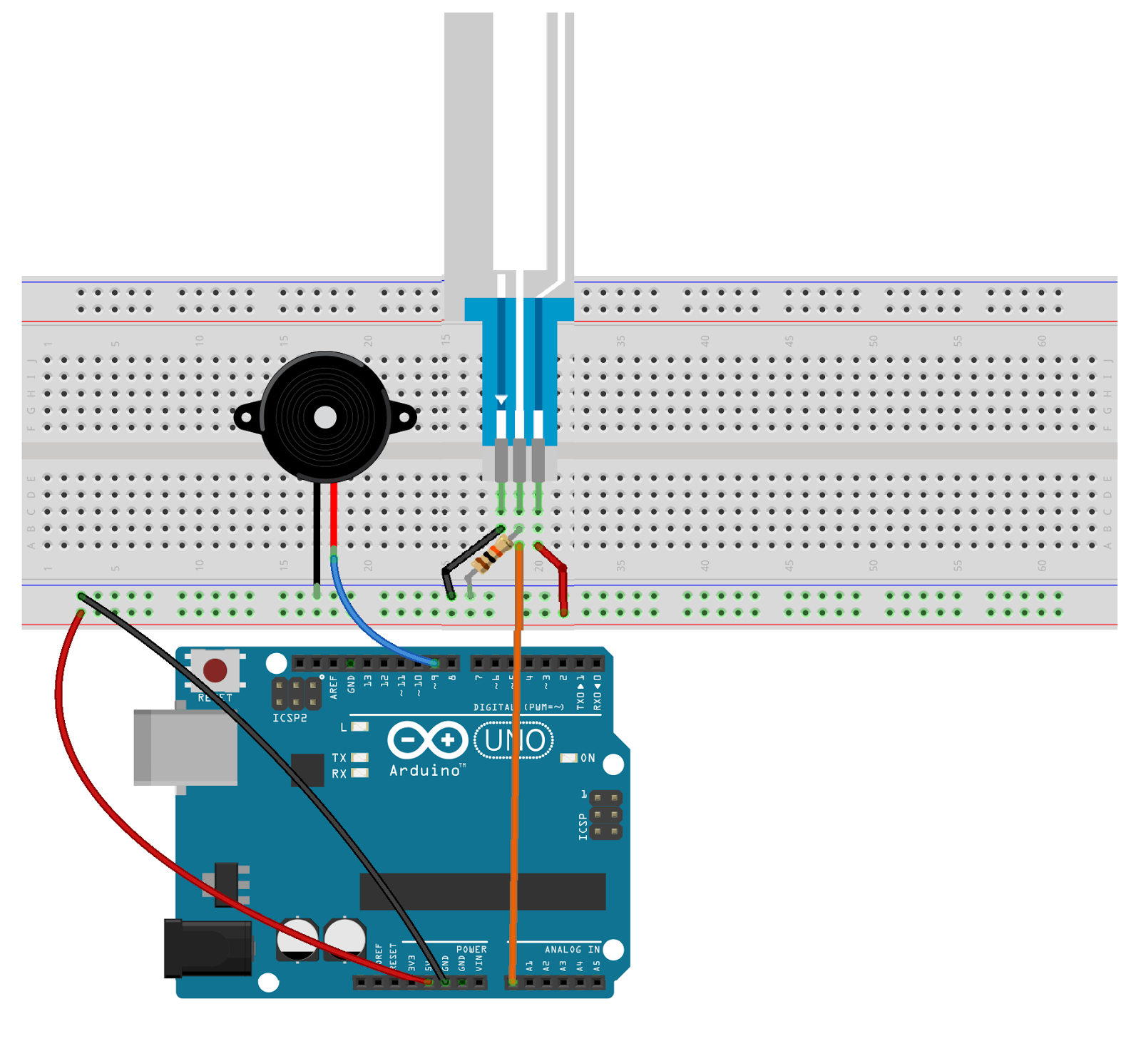 Cans Robotics Arduino Blog Buzzer Control By Using A Soft Circuit Diagram Potentiometer The Diagrams One Made On Digital Environment Other Is Implemented And Datasheet Of Shift Register Can Be Seen Below