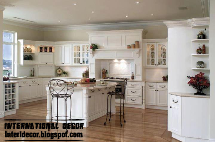 White kitchens designs with classic wood kitchen cabinets for Kitchen furniture design