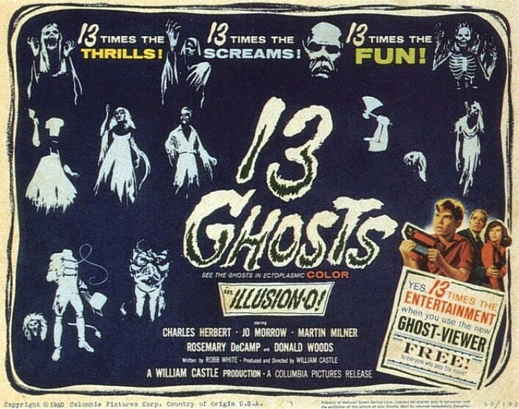 A Vintage Nerd, Classic Film Blog, Classic Haunted House Movies, Vintage Blog, 13 Ghosts