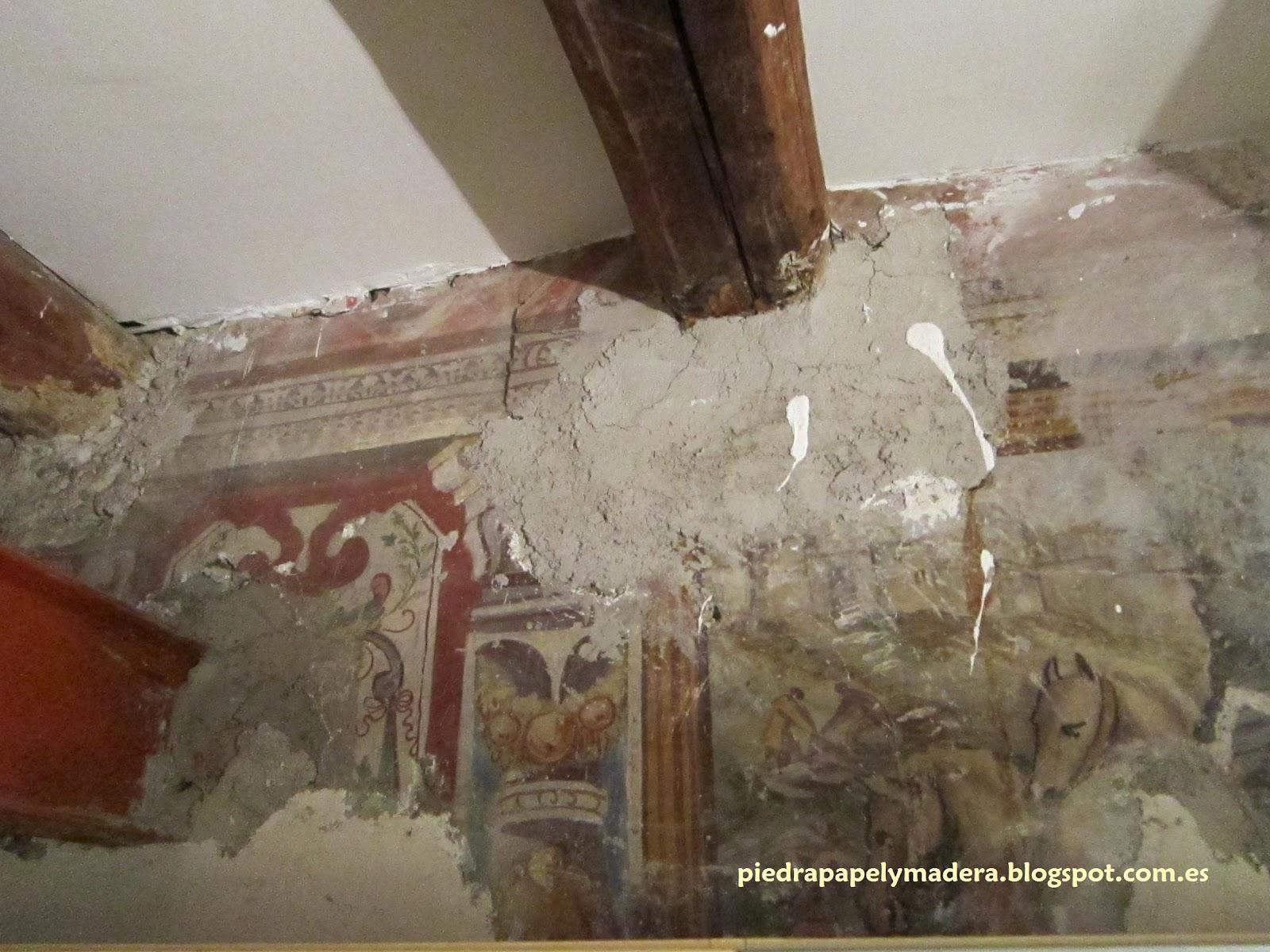 Piedra papel y madera pinturas murales en n poles y ercolano for Papel mural tipo madera