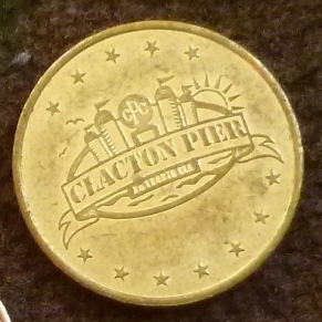 One of the old Clacton Pier tokens from my collection. I love the address of the pier - No. 1 North Sea!