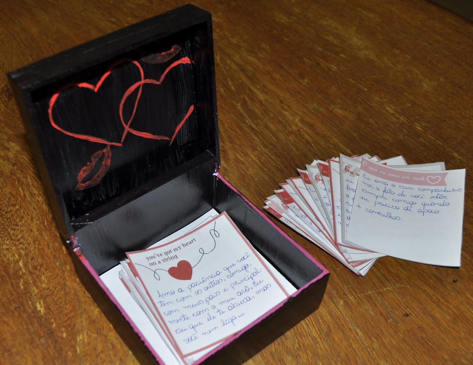Sonhos de Marshmallow Caixinha surpresa + presente para o namorado