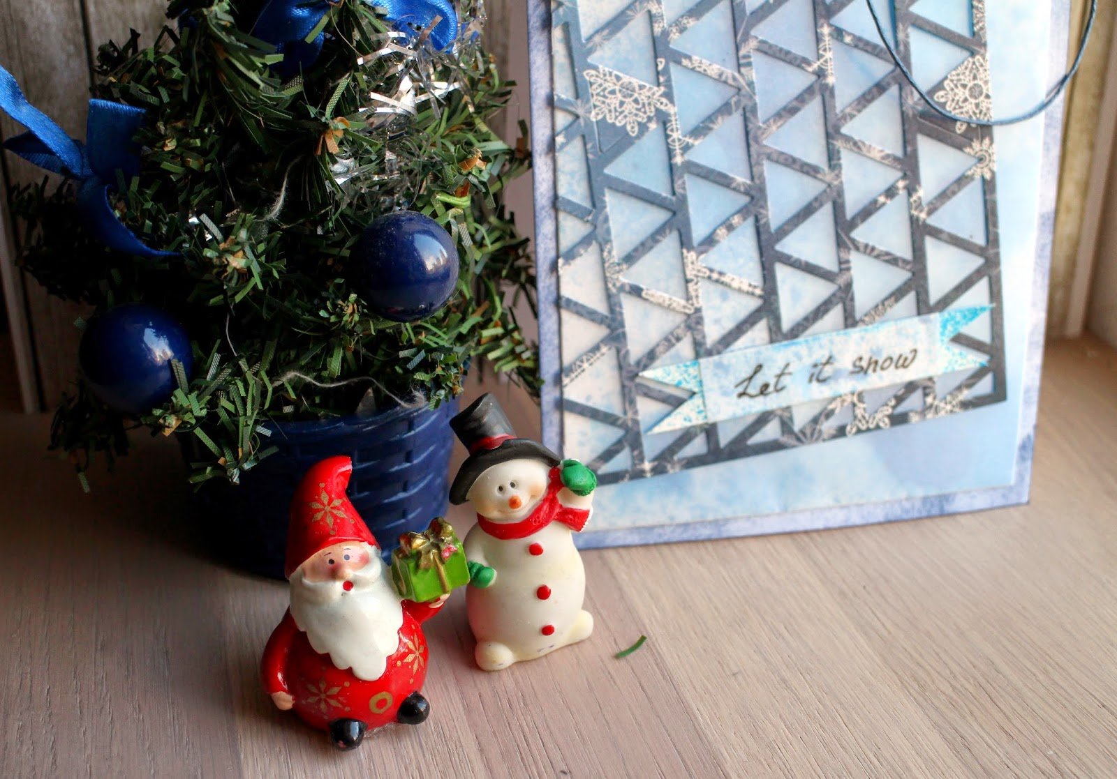 scrapbooking cas clean and simple card pti papertreyink blue winter let it snow скрапбукинг чисто и просто открытка зима снег hamster-sensey