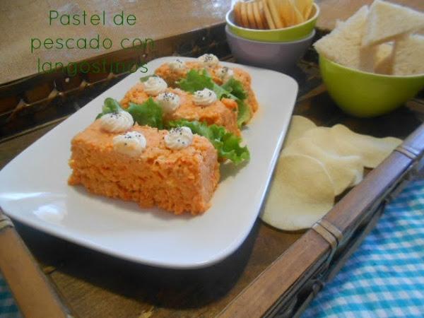 Pastel de pescado con langostinos