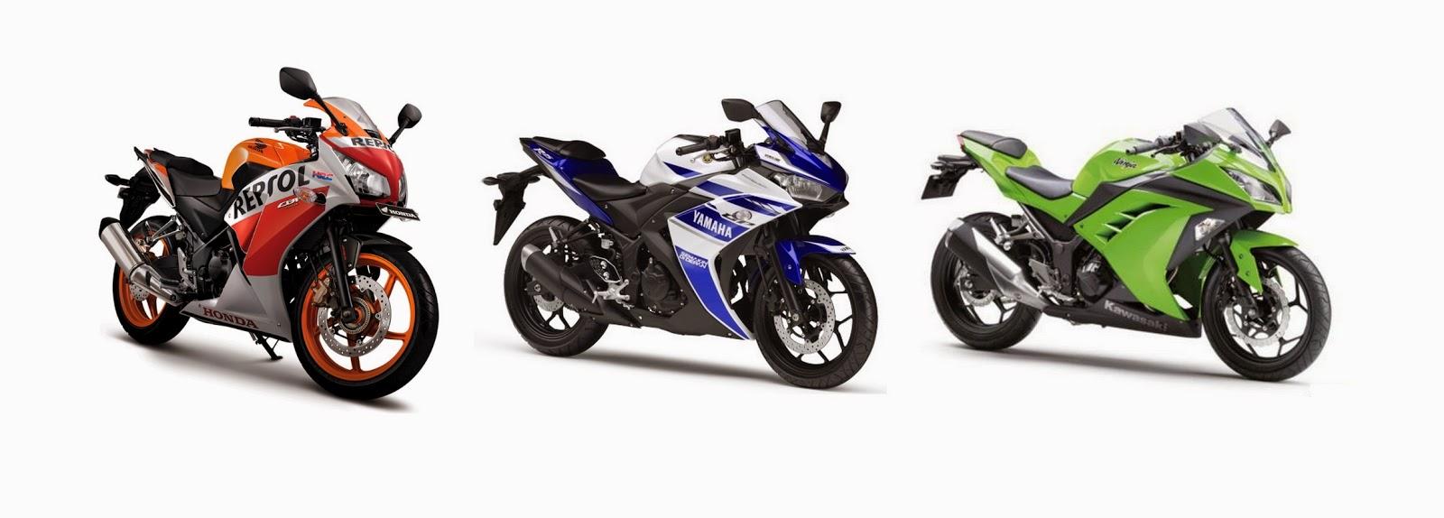 Yamaha YZF-R25 VS Ninja 250 vs CBR 250R