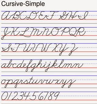 Images gallery of handwriting zaner bloser